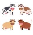 Cute Cow Set vector image