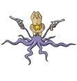 sheriff squid vector image vector image