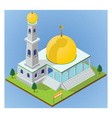 isometric mosque vector image vector image