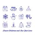 Christmas Drawn set vector image