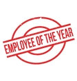Employee Of The Year rubber stamp vector image