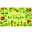 floral background pattern with butterfly vector image