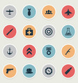 set of simple battle icons vector image