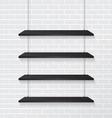Brick wall and black shelves vector image