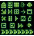 monochrome fluorescent dotbased icon set vector image
