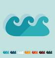Flat design wave vector image