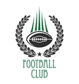 American football sporting club heraldic insignia vector image