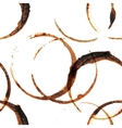 coffee stains seamless vector image