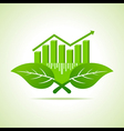Ecology Concept - business graph with leaf vector image