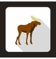 Elk icon flat style vector image