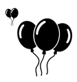Set of different balloons isolated on white vector image