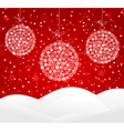 white snowflakes baubles vector image