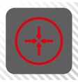 Impact Arrows Rounded Square Button vector image