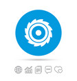 saw circular wheel sign icon cutting blade vector image