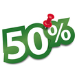 Fifty percent sticker vector image