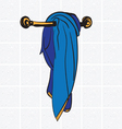 Towel stand vector image