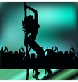 High quality girl striptease in club poledance go vector image