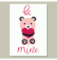 Love Card with bear vector image