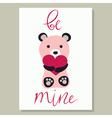 Love Card with bear vector image