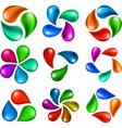 Nature elements set vector image