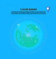 planes flying over world map with pointers travel vector image