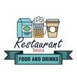 restaurant menu food design vector image