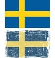 Swedish grunge flag vector image