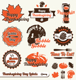 Thanksgiving Day Labels vector image