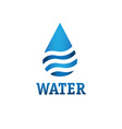 water drop with waves design template vector image