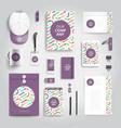 corporate identity print template vector image