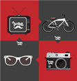 Hipster objects vector image