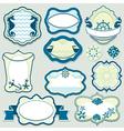 Set of design elements - marine themes frames vector image vector image