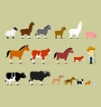 Cute Cartoon Farm Characters vector image