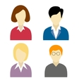 Collection of social network characters vector image