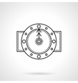 Time black flat line icon vector image