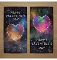 Space heart flyers1 vector image