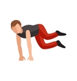 Parkour trick people extreme sport cartoon vector image