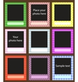 Photo frame set for scrapbook Vector Image