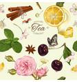 aromatic tea pattern vector image