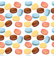 appetizing pattern with macaroons vector image