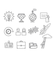 Business thin line icons set vector image