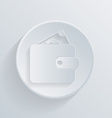 circle icon with a shadow purse vector image