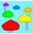 Color clouds with stairs vector image
