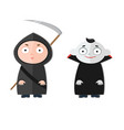 cute kids wearing halloween vector image
