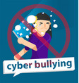 cyber bullying girl vector image