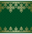 green background with golden vintage ornament vector image