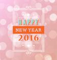 Happy new year typographic design white background vector image