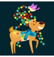 happy smiling reindeer on the eve of New Year and vector image