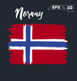 norway flag brush strokes painted vector image