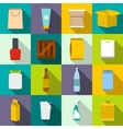 Packaging flat icons set vector image